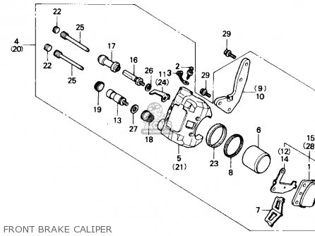 Honda Trx250x Fourtrax 250x 1992 n Usa Front Brake Caliper