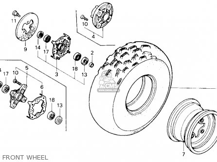 Honda Trx250x Fourtrax 250x 1992 n Usa Front Wheel