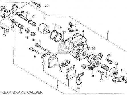 Honda Trx250x Fourtrax 250x 1992 n Usa Rear Brake Caliper