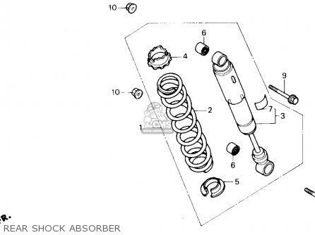 Honda Trx250x Fourtrax 250x 1992 n Usa Rear Shock Absorber