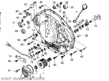 Honda Trx250x Fourtrax 250x 1992 n Usa Right Crankcase Cover