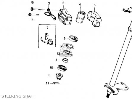 Honda Trx250x Fourtrax 250x 1992 n Usa Steering Shaft