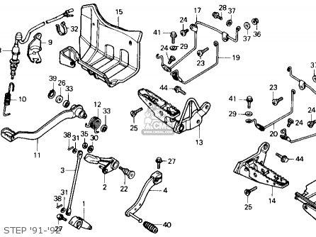 Honda Trx250x Fourtrax 250x 1992 n Usa Step 91-92