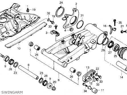 Honda Trx250x Fourtrax 250x 1992 n Usa Swingarm
