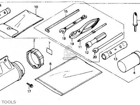 Honda Trx250x Fourtrax 250x 1992 n Usa Tools