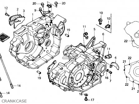Honda Trx250x Fourtrax 250x 1992 Usa Crankcase