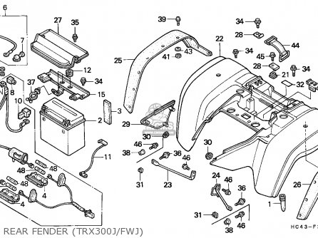 honda fourtrax 300 rear axle diagram