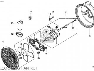 Honda Trx300 Fourtrax 1989 Australia Cooling Fan Kit