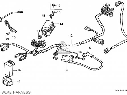 Honda Trx300 Fourtrax 1989 Australia Wire Harness