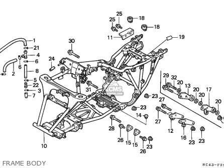 1997 Honda Trx 300 Wiring Diagram on chinese atv frame parts diagram