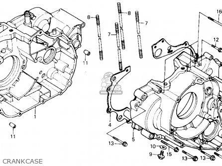 Honda Trx300 Fourtrax 300 1988 j Usa Crankcase