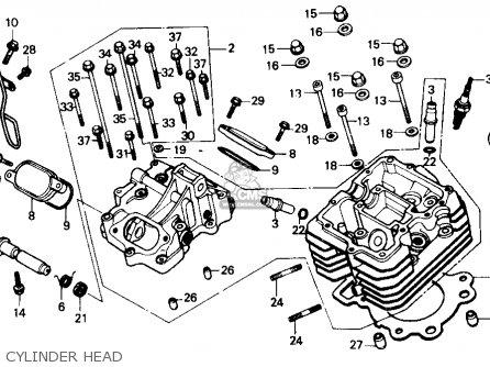 Honda Trx300 Fourtrax 300 1988 j Usa Cylinder Head