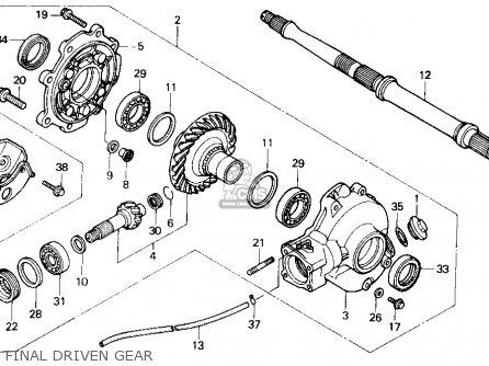 Honda Trx300 Fourtrax 300 1988 j Usa Final Driven Gear