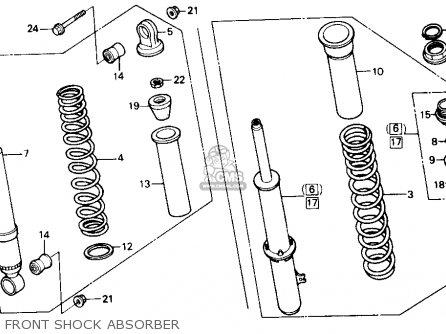 Honda Trx300 Fourtrax 300 1988 j Usa Front Shock Absorber