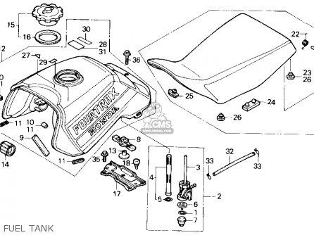 Honda Trx300 Fourtrax 300 1988 j Usa Fuel Tank