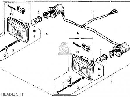 Honda Trx300 Fourtrax 300 1988 j Usa Headlight