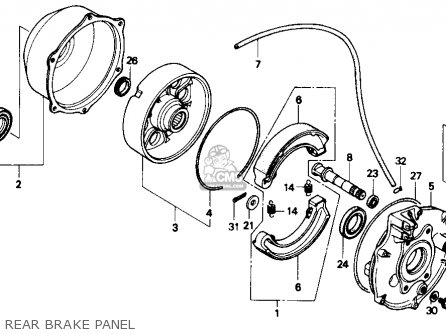 Honda Trx300 Fourtrax 300 1988 j Usa Rear Brake Panel
