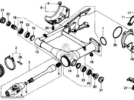 Honda Trx300 Fourtrax 300 1988 j Usa Swingarm