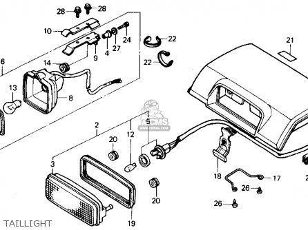 Honda Trx300 Fourtrax 300 1988 j Usa Taillight