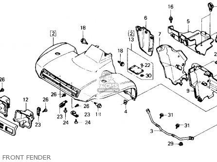 honda trx300 fourtrax 300 1989  k  usa parts lists and