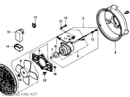 Honda Trx300 Fourtrax 300 1990 l Usa Cooling Fan Kit