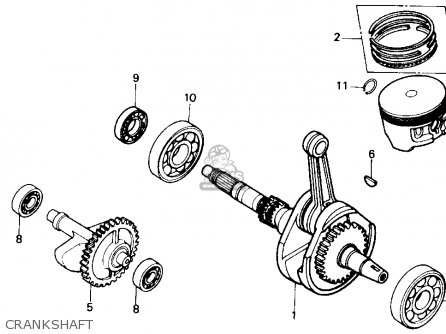 Honda Trx300 Fourtrax 300 1990 l Usa Crankshaft