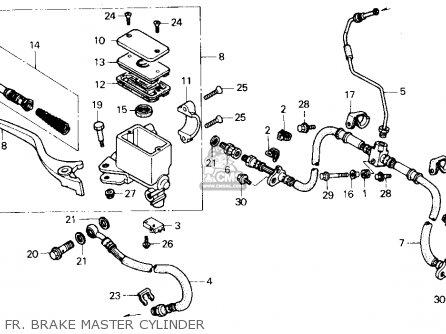 Honda Trx300 Fourtrax 300 1990 l Usa Fr  Brake Master Cylinder