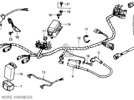 Honda Trx300 Fourtrax 300 1990 l Usa Wire Harness