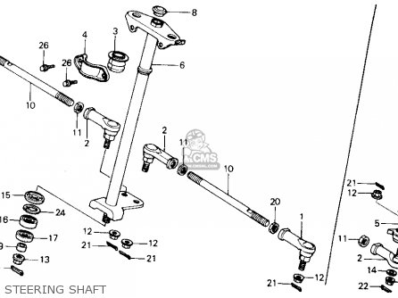 Honda Trx300 Fourtrax 300 1990 Usa Steering Shaft