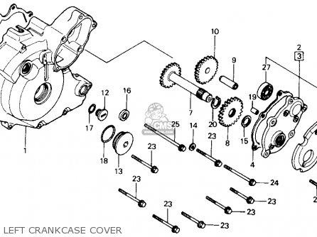 Honda Trx Fourtrax M Usa Left Crankcase Cover Mediumhu E Eed on 91 Honda 300 Fourtrax Parts Diagram