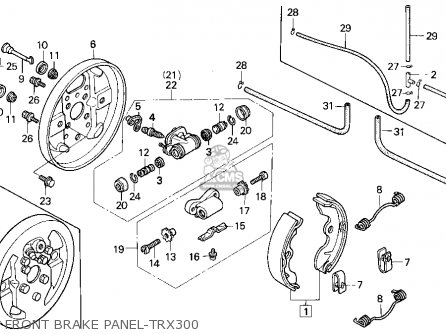 Honda Trx300 Fourtrax 300 1996 T Usa Carburetor Schematic