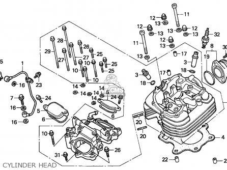Honda Trx300ex Fourtrax 1994 R Canada Parts Lists And Schematics