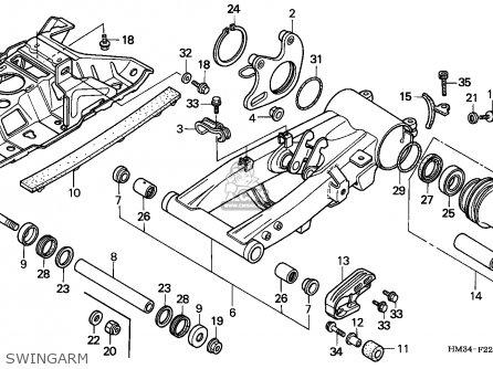 Honda Trx300ex Fourtrax 1996 T Usa Parts Lists And Schematics