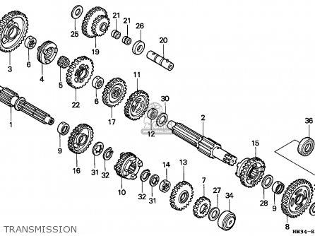 Honda Trx300ex Fourtrax 1997 (v) Usa parts list ...