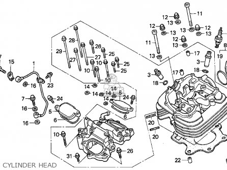1993 honda fourtrax 300 frame diagram