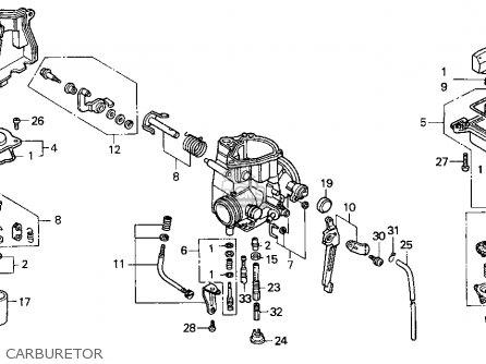 Honda Recon Carburetor Adjustment moreover 1985 Honda 250 Fourtrax Wiring Diagram in addition 1996 Honda Fourtrax Carburetor Schematics as well Carburetor Assy 16100hm8a01 further Honda Foreman 450 Es Wiring Diagram Diagrams. on honda recon carb diagram