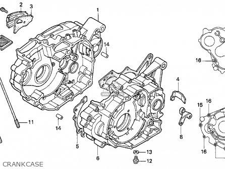 Honda Trx300ex Fourtrax 300ex 1994 r Usa Crankcase