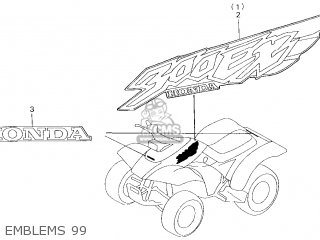 Honda 300 Fourtrax Serial Number Location      Wiring    Source