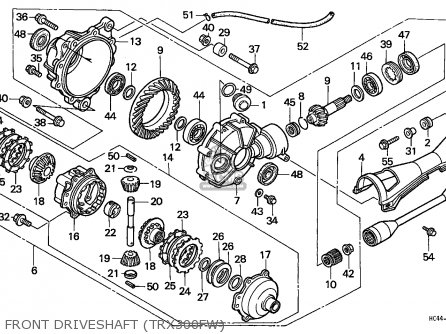 Honda Trx300fw Fourtrax 1988 J Usa Parts Lists And Schematics