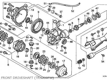 Honda Fourtrax 300 Parts Diagram