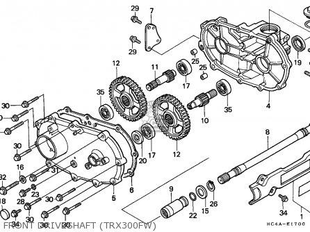 1995 Honda 300 Fourtrax Rear End Schematic