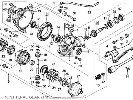 Honda Trx Fw Fourtrax X L Usa Front Final Gear Fw Mediumhu F Aa on 91 Honda 300 Fourtrax Parts Diagram
