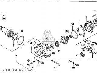 Honda Fourtrax 300 Schematic Steering Parts on post41176