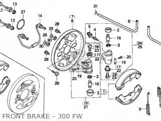 honda 300 fourtrax parts diagram for 1995 model