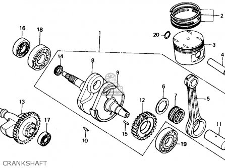 Honda Trx350 Fourtrax 4x4 1986 g Usa Crankshaft