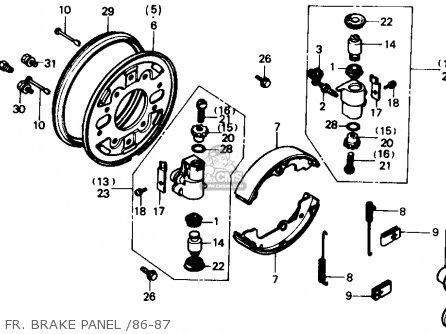 Honda Trx350 Fourtrax 4x4 1986 g Usa Fr  Brake Panel  86-87