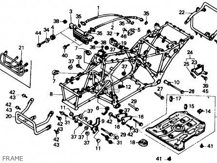 Honda Trx350 Fourtrax 4x4 1986 G Usa Parts Lists And Schematics