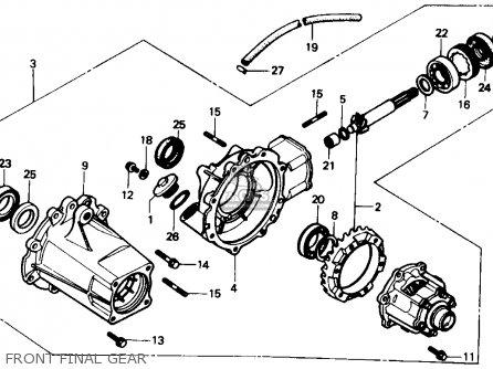 Honda Trx350 Fourtrax 4x4 1986 g Usa Front Final Gear