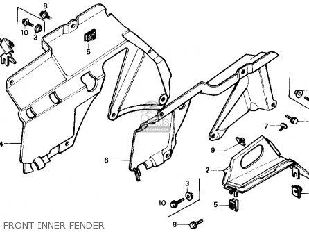 Honda Trx350 Fourtrax 4x4 1986 g Usa Front Inner Fender