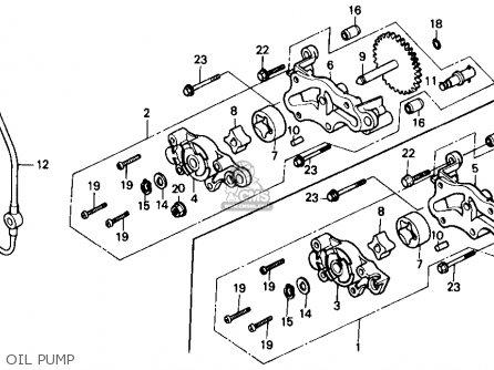 Honda Trx350 Fourtrax 4x4 1986 g Usa Oil Pump